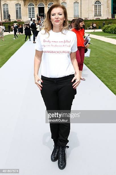 Journalist Valerie Trierweiler attends the Christian Dior show as part of Paris Fashion Week Haute Couture Fall/Winter 20142015 Held at Musee Rodin...