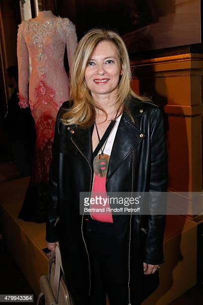 Journalist Valerie Trierweiler attends the Presentation of the Alexis Mabille Haute Couture Fall/Winter 2015/2016 collection as part of Paris Fashion...