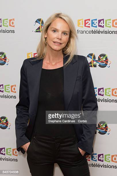 Journalist Vanessa Burggraf attends the France Television 2016/2017 Photocall on June 29 2016 in Paris France