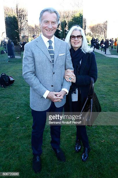 Journalist William Leymergie and his wife Marie attend the Christian Dior Spring Summer 2016 show as part of Paris Fashion Week Held at Musee Rodin...