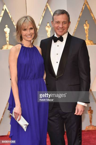 Journalist Willow Bay and Chief Executive Officer of Disney Bob Iger attend the 89th Annual Academy Awards at Hollywood Highland Center on February...