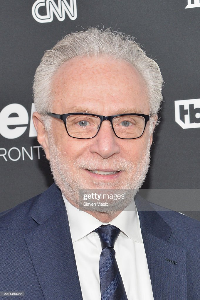 Journalist Wolf Blitzer attends the Turner Upfront 2016 at Nick Stef's Steakhouse on May 18 2016 in New York City