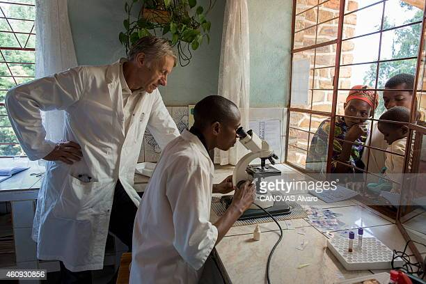 Journalist writer diplomat and academician Dr Jean Christophe Rufin in Burundi in a dispensary where he has choosen to practice again on June 21 2014...
