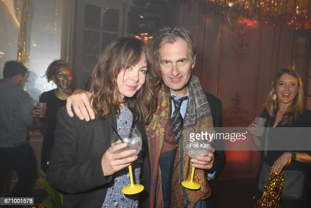 Journalist /writer Fabrice Gaignault and Laura Stevens attend 'Tonic Follies' Villa Schweppes Before Cannes Festival Party at Foundation Mona...