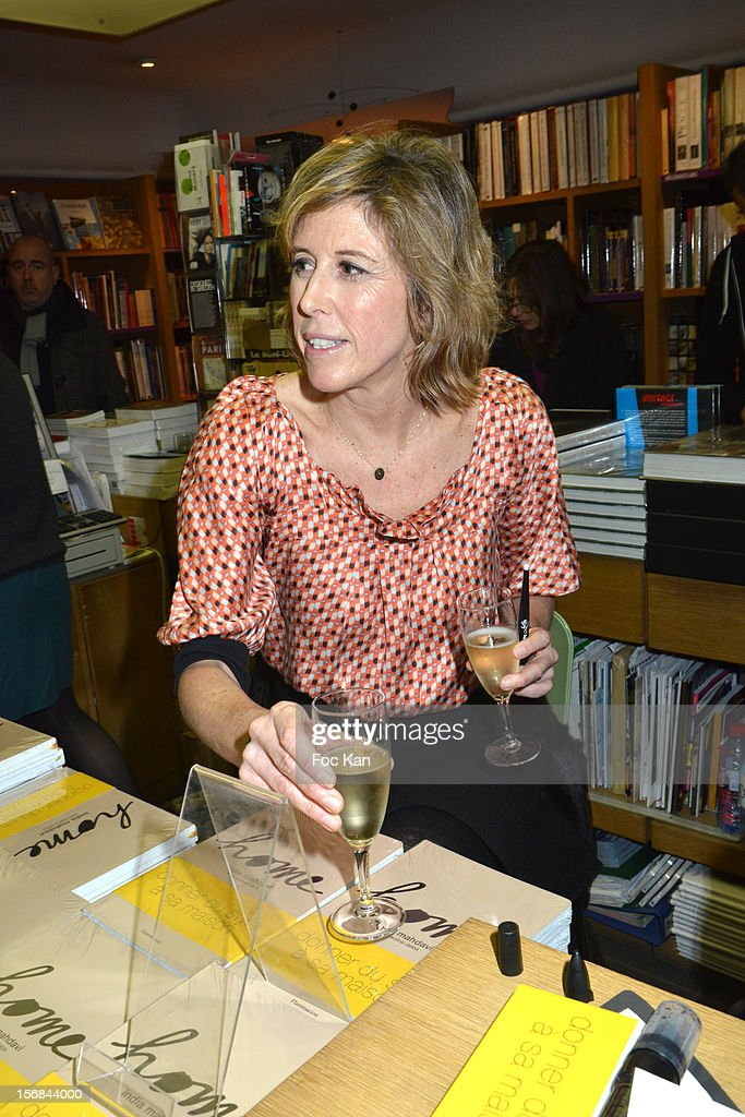 Journalist / writer Soline Delos attends 'Home' India Madhavi and Soline Delos Book Launch at Musee Arts Decoratifs Bookshop on November 22, 2012 in Paris, France.