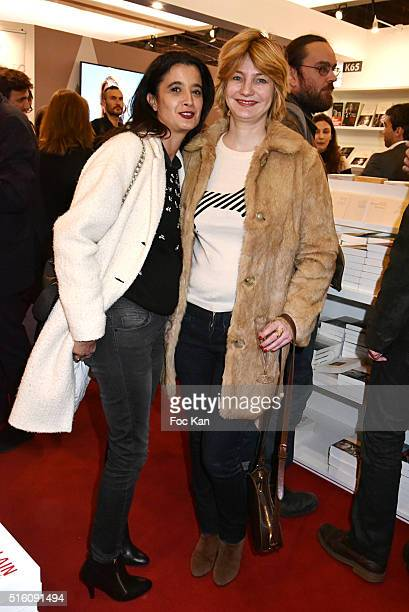 journalist writers Vanessa Schneider from Le Monde and Prix de Flore 2013 Monica Sabolo from Grazia magazine attend 'Salon Du Livre 2016' Opening at...