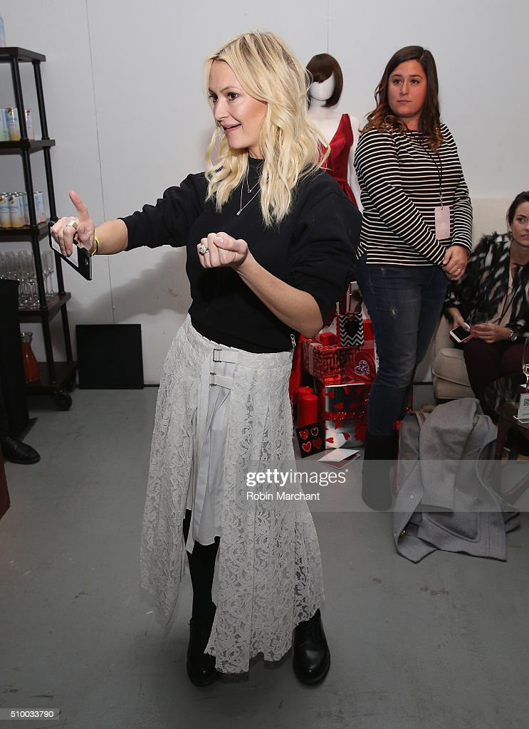 Journalist, Zanna Roberts Rassi, attends Fall 2016 New York Fashion Week at the Gallery, Skylight at Clarkson Sq on February 13, 2016 in New York City.