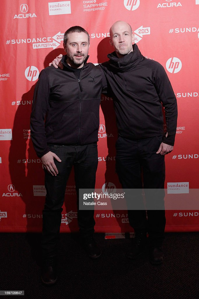 Journalist/Author Jeremy Scahill and filmmaker/journalist Richard Rowley attend the 'Dirty Wars' Premiere during the 2013 Sundance Film Festival at Eccles Center Theatre on January 18, 2013 in Park City, Utah.