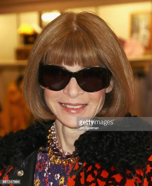Journalist/editor Anna Wintour attends Plum Skye's 'Party Girls Die In Pearls' book launch celebration at Brooks Brothers on May 9 2017 in New York...