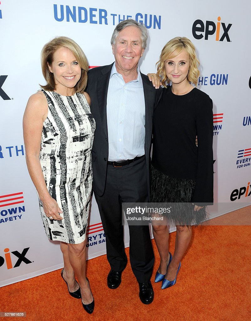 Journalist/executive producer Katie Couric EPIX President and CEO Mark Greenberg and director Stephanie Soechtig attend the 'Under The Gun' LA...