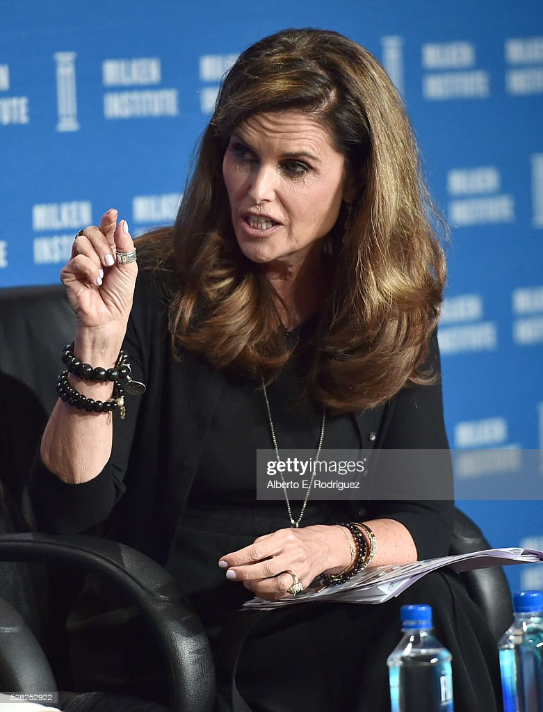 Journalist/founder Shriver Media and activist Maria Shriver speaks onstage at the 2016 Milken Institute Global Conference on May 04, 2016 in Beverly Hills, California.
