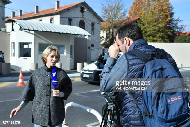 Journalists are at work in front of the police station where billionaire Russian oligarch Suleiman Kerimov is being questioned by investigators on...
