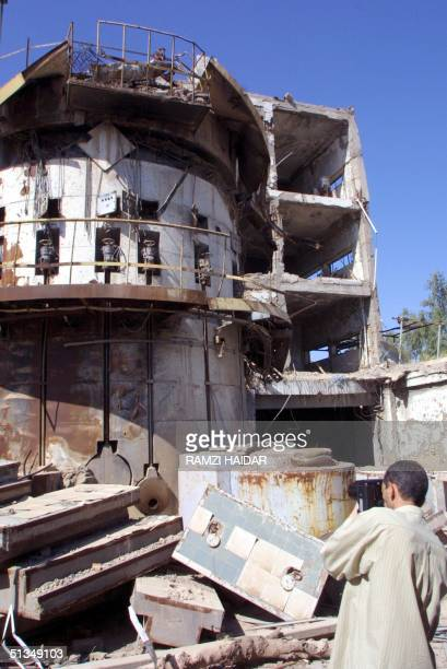 Journalists are shown the destroyed Russianmade Tammuz Iraqi nuclear reactor bombed by Israel during an air raid in 1981 and later hit in the 1991...