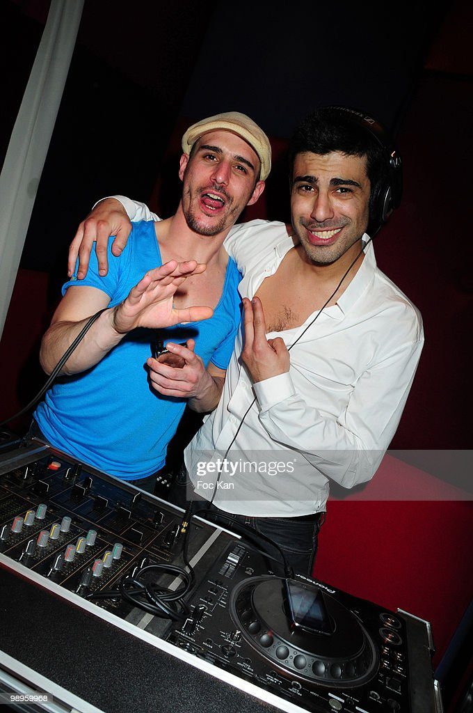 TV journalists Cartman (Nicolas Bonaventure Ciattoni) and Miko (Michael Cyril Elie Simeoni) from Virgin 17 attend the Miko and Cartman 'Lucky Star DJ Set Party' at the Hotel Murano on March 25, 2010 in Paris, France.