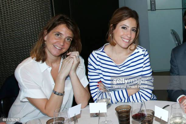 Journalists Elsa Boublil and Lea Salame attend the 'France Television' Lunch during the 2017 French Tennis Open Day Five at Roland Garros on June 1...