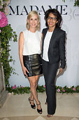 Journalists Laurence Ferrari and Audrey Pulvar attend the 'Air France Madame' 30th Anniversary at Le Ritz Hotel on June 28 2016 in Paris France