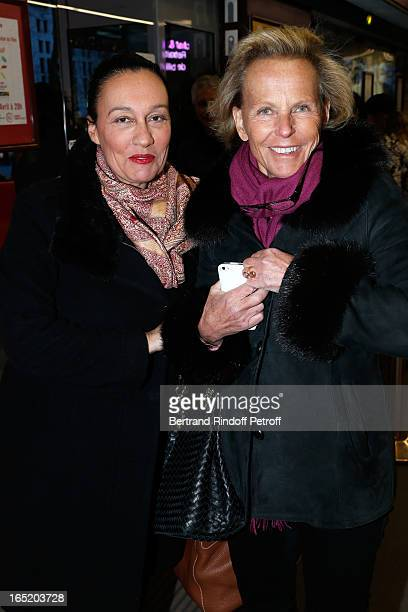 Journalists Laurence Haim and Christine Ockrent attend 'Des gens qui s'embrassent' movie premiere at Cinema Gaumont Marignan on April 1 2013 in Paris...