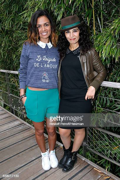 Journalists Laurence Roustandjee and Aida Touihri attends Day Fourteen Women single's Final of the 2016 French Tennis Open at Roland Garros on June 4...