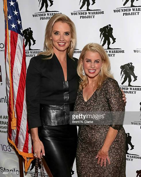 Journalists Laurie Dhue and Rita Cosby arrive for the 2014 Wounded Warrior Project Benefit at The Edison Ballroom on November 17 2014 in New York City