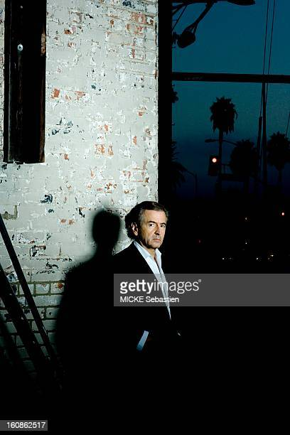 Journalists of 'Paris Match' BernardHenri Levy meet on Santa Monica Boulevard in Los Angeles for the release of his book 'Public Enemies' published...