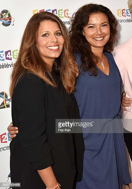 TV journalists /presenters Myriam Seurat and Anais Bedaymir attend France Television presents its programs 20162017 at France Television studios on...