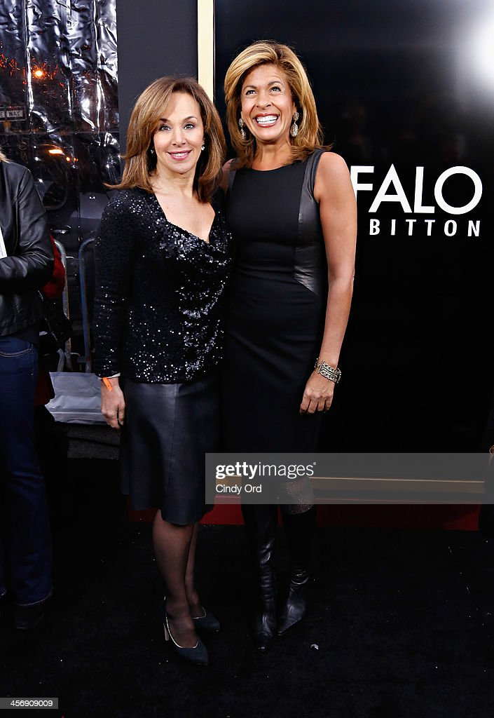 Journalists Rosanna Scotto and Hoda Kotb attend the Anchorman 2: The Legend Continues Premiere, Sponsored by Buffalo David Bitton on December 15, 2013 in New York City.