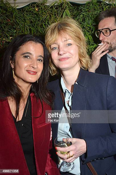 Journalists Vanessa Schneider from Le Monde and Flore 2013 winner Monica Sabolo from Grazia attend the 'Prix De Flore 2015 ' Literary Prize Winner...