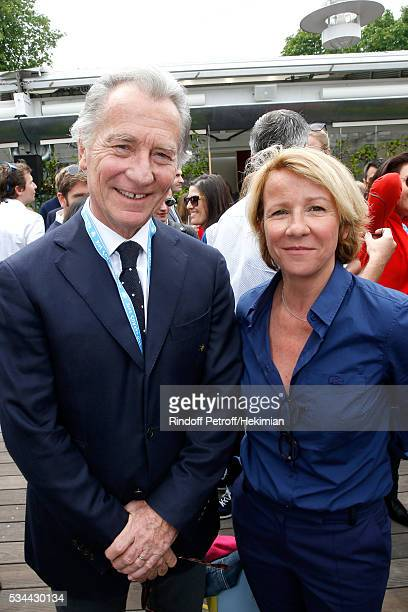 Journalists William Leymergie and Ariane Massenet attend the 2016 French Tennis Open Day Five at Roland Garros