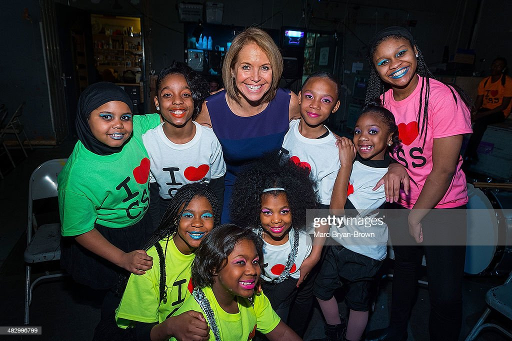 Journalist/TV host <a gi-track='captionPersonalityLinkClicked' href=/galleries/search?phrase=Katie+Couric&family=editorial&specificpeople=202633 ng-click='$event.stopPropagation()'>Katie Couric</a> (C) and Camden Sophisticated Sisters attend the 5th Annual Women In The World Summit at David H. Koch Theater, Lincoln Center on April 5, 2014 in New York City.