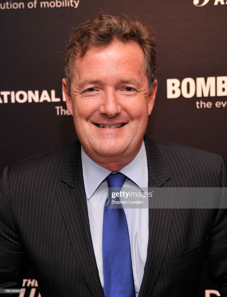Journalist/TV personality <a gi-track='captionPersonalityLinkClicked' href=/galleries/search?phrase=Piers+Morgan&family=editorial&specificpeople=216509 ng-click='$event.stopPropagation()'>Piers Morgan</a> attends The Hollywood Reporters 35 Most Powerful People In Media at Four Seasons Grill Room on April 10, 2013 in New York City.