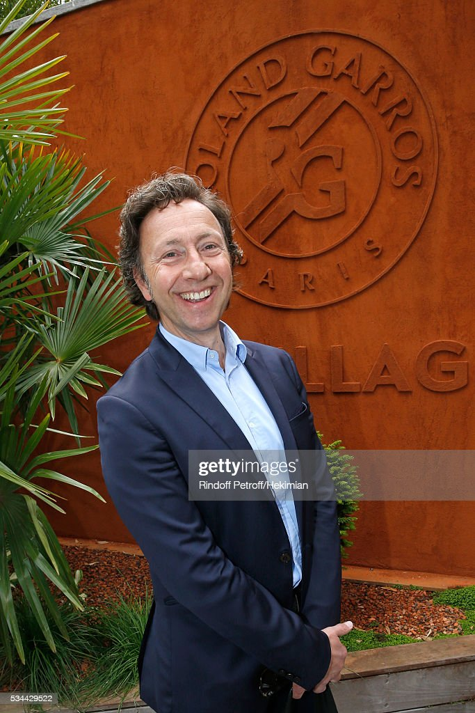 Journaloist Stephane Bern attends the 2016 French Tennis Open - Day Five at Roland Garros