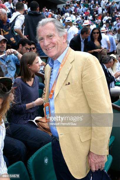 Journalsit William Leymergie attends the 2017 French Tennis Open Day Thirteen at Roland Garros on June 9 2017 in Paris France