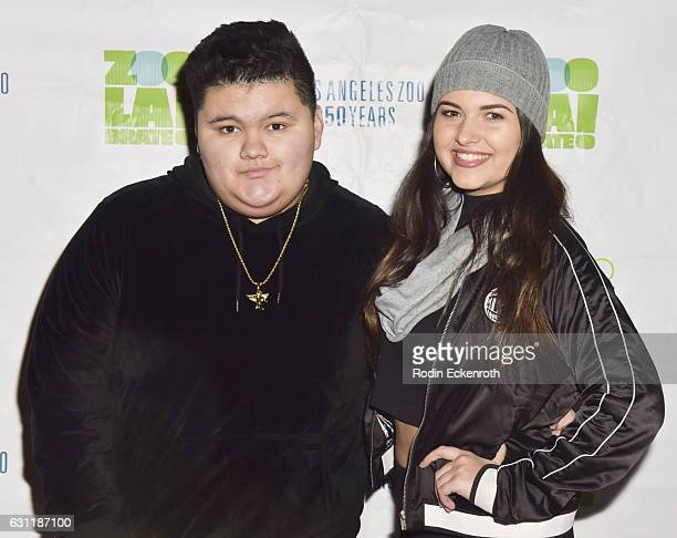 Jovan Armand and Katrina Stuart attend LA Zoo Lights Jesaiah presents Music of Wonderland at Los Angeles Zoo on January 7 2017 in Los Angeles...