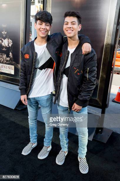 Jovani and Julian Jara arrive for the Premiere Of New Line Cinema's 'Annabelle Creation' at the TCL Chinese Theatre on August 7 2017 in Hollywood...