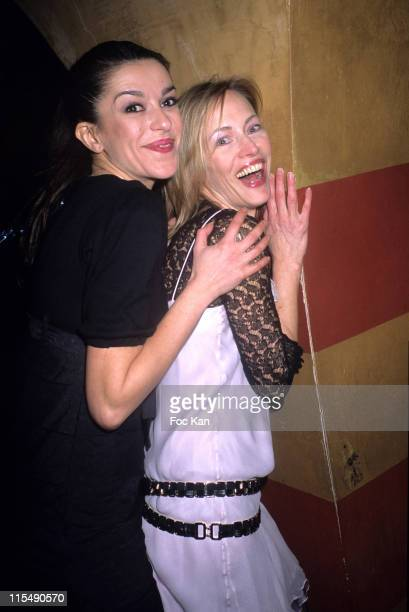 Jovanka Sopalovic and Gabrielle Lazure during Restaurant Olivier Fuchs St Tropez Dinner Party at Castel Club in Paris France