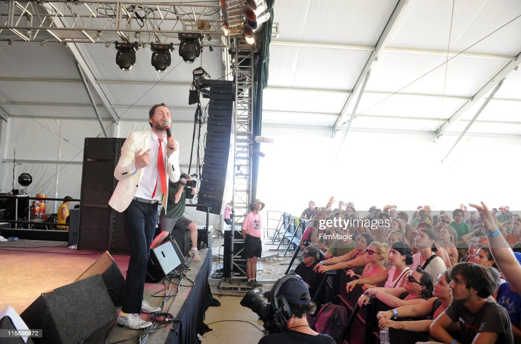 Jovanotti performs on stage during Bonnaroo 2011 at The Other Tent on June 11, 2011 in Manchester, Tennessee.
