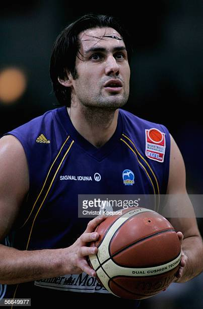 Jovo Stanojevic of Alba in action during the Basketball Bundesliga match between Bayer Giants Leverkusen and Alba Berlin at the WilhelmDopatka Hall...