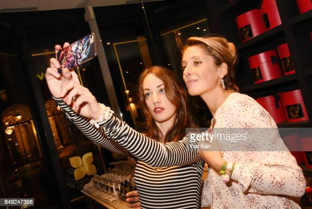 Jovoy perfume nose Vanina Muracciole and Juliette Besson attend 'Nuit Jovoy Rose Millesimee' at Jovoy Store on September 18 2017 in Paris France