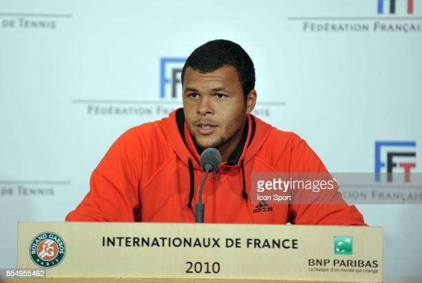 JoWilfried TSONGA Tirage au sort et journee des medias Roland Garros 2010