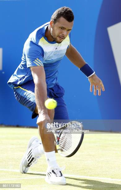 JoWilfried Tsonga during his match against Igor Sijsling at the AEGON Championships at The Queen's Club London