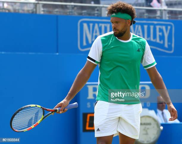 JoWilfried Tsonga FRA against Gilles Muller LUX during Round Two match on the third day of the ATP Aegon Championships at the Queen's Club in west...