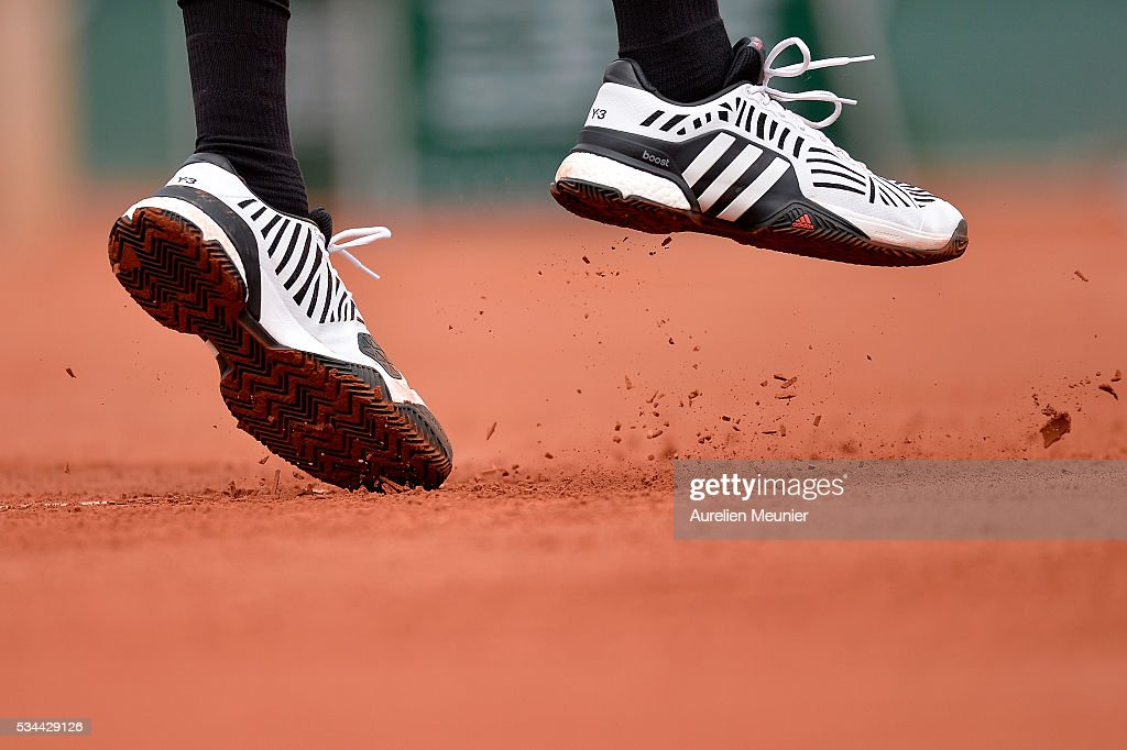 <a gi-track='captionPersonalityLinkClicked' href=/galleries/search?phrase=Jo-Wilfried+Tsonga&family=editorial&specificpeople=553803 ng-click='$event.stopPropagation()'>Jo-Wilfried Tsonga</a> of France in action during his men's single second round match against Marcos Baghaditis of Cyprus on day five of the 2016 French Open at Roland Garros on May 26, 2016 in Paris, France.