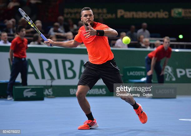 JoWilfried Tsonga of France in his third round match at the 2014 BNP Paribas Masters at the POPB on October 30 2014 in Paris France Photo by...