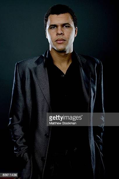 JoWilfried Tsonga of France poses for a portrait at a media availability session at the Hiltono Hotel for the Tennis Masters Cup November 8 2008 in...