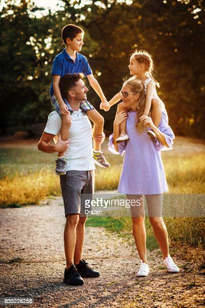 Joy and relaxation with children outdoors
