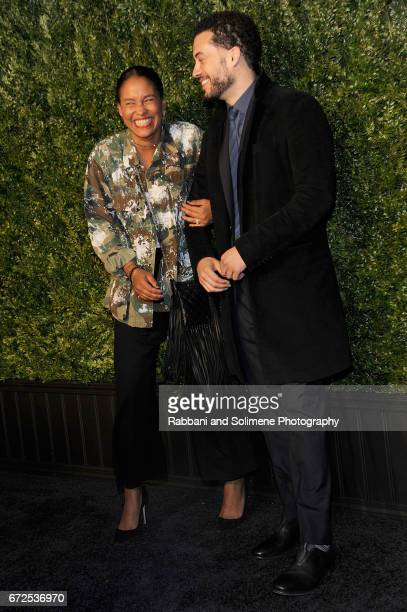 Joy Bryant and Ezra Edelman attends the 2017 Tribeca Film Festival Chanel Artists Dinner on April 24 2017 in New York City