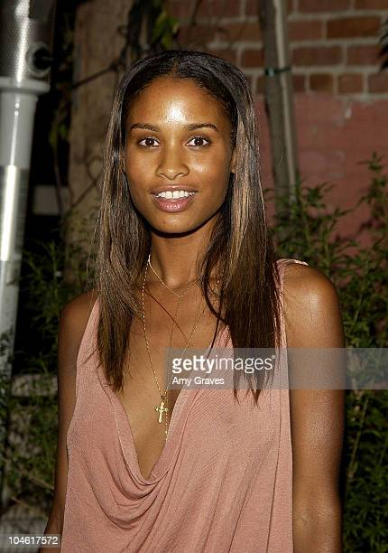 Joy Bryant during Dazed Confused and Kangol Sponsor Jamel Shabazz Photography Show at Les Deux Cafes in Hollywood California United States