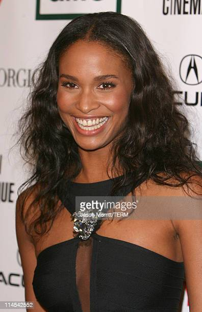Joy Bryant during The 21st Annual American Cinematheque Award Honoring George Clooney Arrivals at Beverly Hilton Hotel in Beverly Hills California...