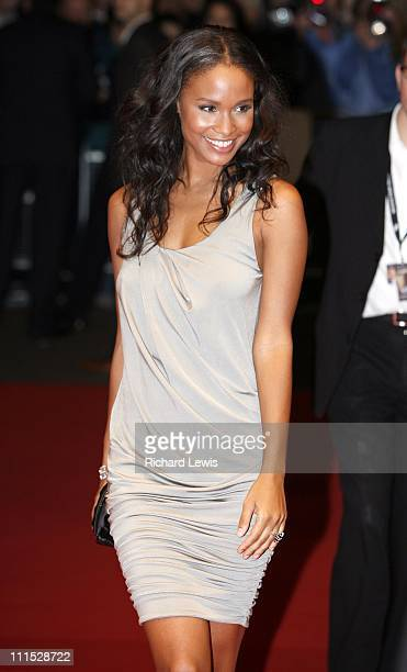 Joy Bryant during The Times BFI 50th London Film Festival UK Premiere of 'Bobby' Inside Arrivals at Odeon West End in London Great Britain