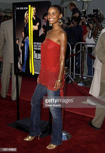 Joy Bryant during World Premiere of 'The Italian Job' Red Carpet at Grauman's Chinese Theatre in Hollywood California United States